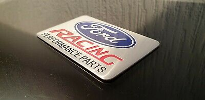 FORD RACING PERFORMANCE PARTS METAL Badge Emblem Sticker Decal Fiesta Focus UK
