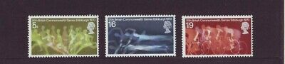 British stamps mint 1970 9th Commonwealth games SG832-SG834 full mint set