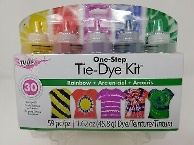 TULIP One-Step Tie-Dye Kit RAINBOW 5 Colors NEW