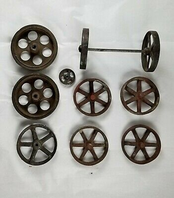Antique Vintage Big Cast Iron & Steel Wheels for Toy Cars Trucks Tractors ?