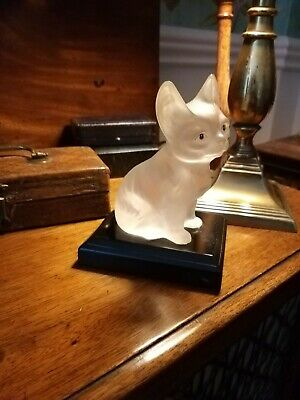 Antique Czech Glass Cat Art Deco Large Size