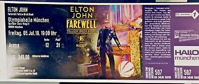 Elton John Ticket Olypiahalle München 05.Juli.2019 GOLDEN CIRCLE