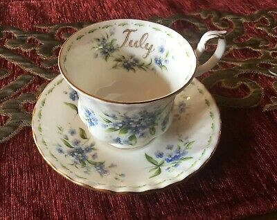 Royal Albert July Flower Of The Month Forget Me Not Cup And Saucer