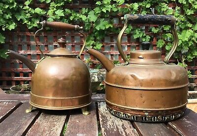 2 Used Antique Copper Kettles Premier System Electric / Masters Quick Boil