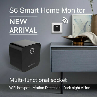 Wireless Wifi IP Camera Smart Home Security 1080P HD Spy Hidden Socket Plug In
