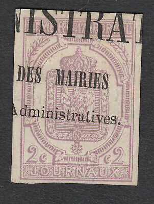 Timbre Pour Journaux N°1 Timbre Stamp Briefmarken