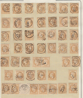 N°28 Lot Obliterations Dont Paires Timbre Stamp Briefmarken
