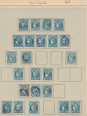 N°46A Report 1 Lot Obliterations Rare Timbre Stamp Briefmarken