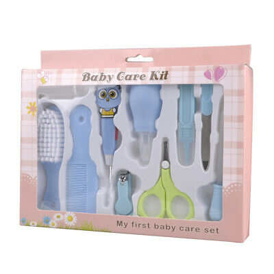 10 Pcs Baby Infants Health Care Tools Set Nail Clipper File Scissor Grooming Kit