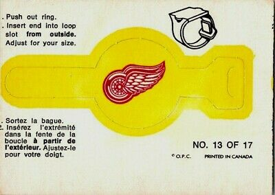 1973-74 O-Pee-Chee Detroit Red Wings #13 Vintage Hockey Card