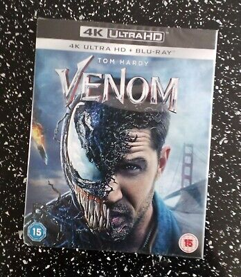Venom 4K UHD HDR + HD Blu-ray with Atmos Sound & Slip Cover. Brand New & Sealed