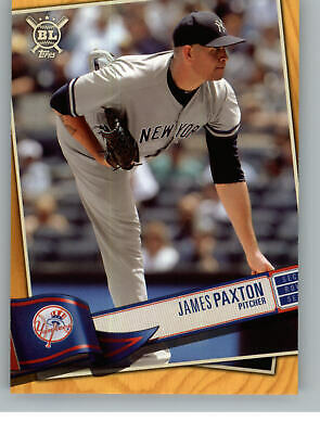 2019 Topps Big League Baseball Gold 235 James Paxton - New York Yankees