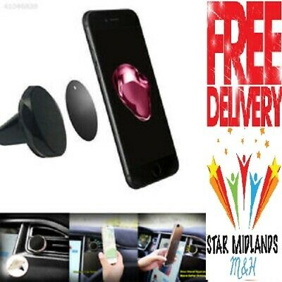 Car Magnetic Phone Holder Fits Air Vent Universal Mount Various Colours