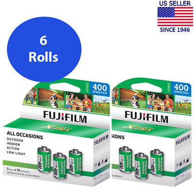 6 Rolls Fuji Superia X-TRA 400 FujiColor CH 135-36 Color Negative Film FRESH