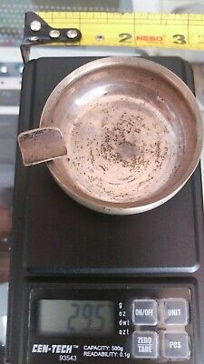 Old Sterling Silver Ashtray 29.5 grams