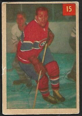 1954-55 Parkhurst Nhl Hockey: #15 Floyd Curry, Montreal Canadiens