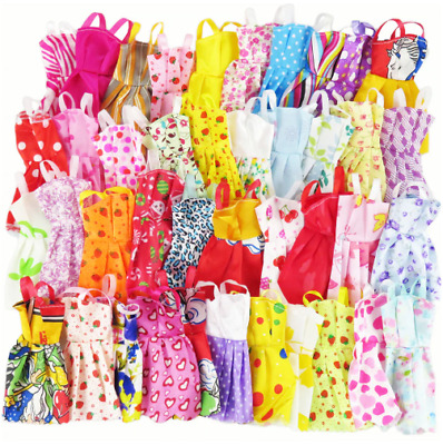 10 Pieces Random Mix of Beautiful Handmade Party Dresses Clothes for Barbie Doll