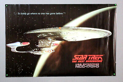1991 Star Trek The Next Generation TNG 36 by 24 inch USS Enterprise poster:1990s