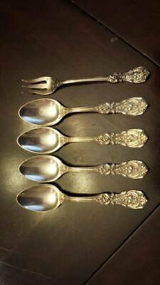 Lot of 5 Francis I 1 Reed & Barton Sterling Silver Spoons Olive Fork Old Mark