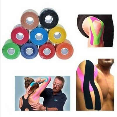 1 Roll Elastic Kinesiology Sports Tape Muscle Pain Care Therapeutic Brand 5*5cm