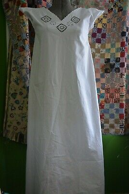 Vintage Antique White Edwardian Victorian Summer/Day Dress - Size small/2
