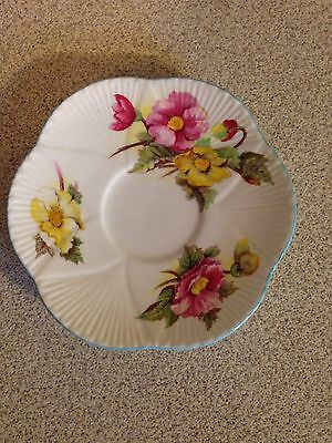 Dainty Shelley England Bone China Begonia Saucer Only