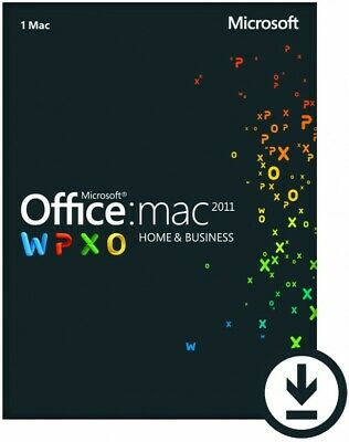 Microsoft Office Home and Business 2011 for Mac| Lifetime License