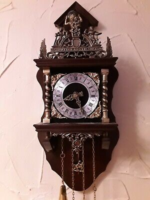 Vintage FRANZ HERMLE Wall Clock West Germany / working and keeps good time