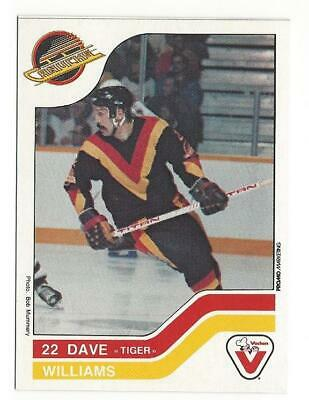 """DAVE """"TIGER"""" WILLIAMS 1983-84 Vachon Card #120 NM-MT NHL Vancouver Canucks"""