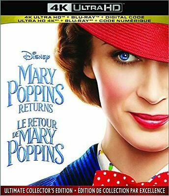 Mary Poppins Returns 4K ( 4K UHD/Blu-ray/Digital ) with Slipcover 2019