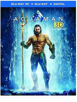 Aquaman 3D ( 2D/3D Blu-ray/Digital ) with Slipcover 2019