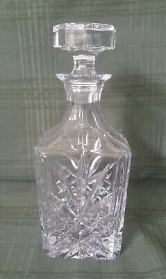 GORHAM Crystal Monte Carlo Square Decanter with Hexgon Stopper