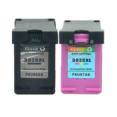 Black Colour Ink Cartridge Compatible with HP 302 302XL Full of Ink With Chip