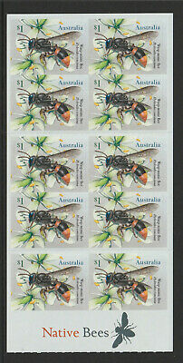 Australia 2019 : Native Bees, Booklet odf 10 x $1.00 Self-adhesive Stamps,
