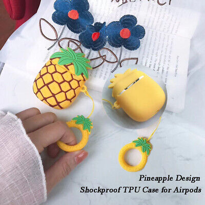 Creative 3D Pineapple Design Shockproof TPU Case for Airpods Wireless Earphone