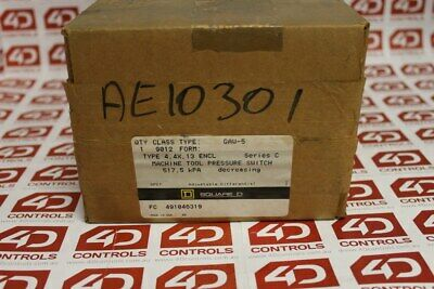 Square D 9012 GAW-5 Machine Tool Pressure Switch - Series C - New Surplus Open