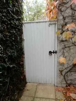 TIMBER SIDE GATE - White painted 785w x 1680h, 2d
