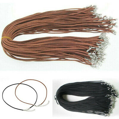 Wholesale Price 10 pcs Suede Leather String 20 inch Necklace Cord Jewelry Making