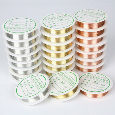 1 Roll Copper Brass Beading Wrapping Twisted Jewelry Wire Craft 0.2mm-1mm