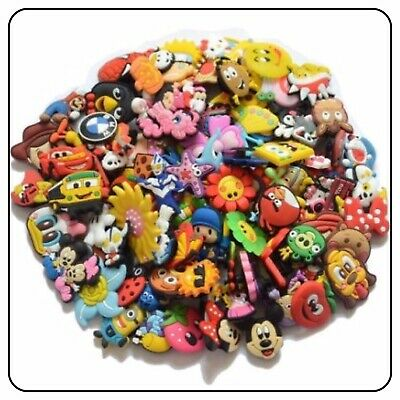 50Pcs Lot Fit Jibbitz Croc Holey Clogs Plug Cute Shoe Charms Random Wholesale