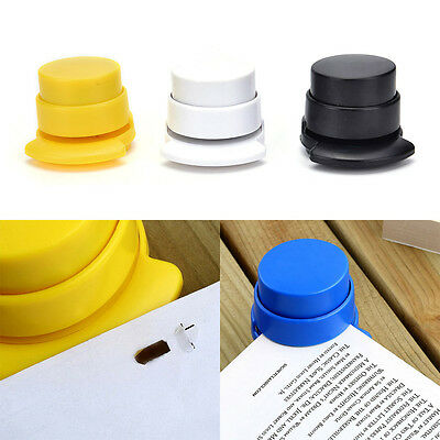 1X Office Home Staple Free Stapleless Stapler Paperclip Paper Binding Binder_TI
