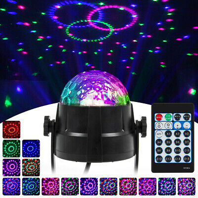 Mini DJ Club Disco KTV Party Bar RGB Color LED Ball Laser Projector Stage Lights