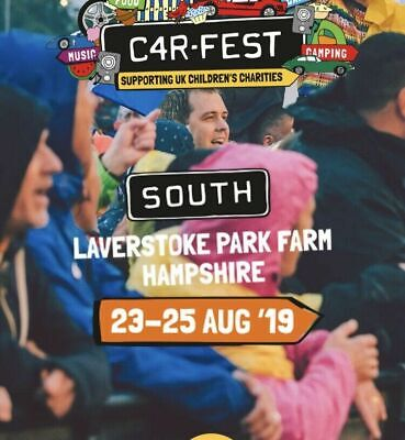 Car fest South  2 X Adult Weekend Tickets (Big Early) and Camper/caravan Permit