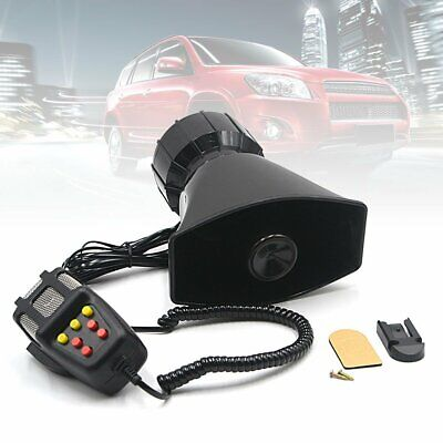 NEW 12V 100W Loud 7 Sounds Air Horn Siren Speaker For Auto Car Boat System MIC