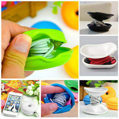 2Pcs silicone Turtle Winder Cord Cable Organizer Headphone Earphone