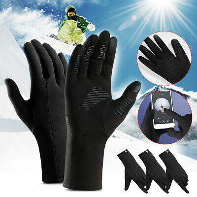 Men Women Bicycle Cycling Winter Gloves Touch Screen Warm Full Finger Outdoor AU