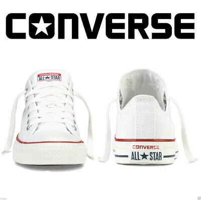 Converse Lo Top Mens Womens Unisex All Star White Chuck Taylor Trainers Shoes UK