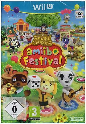 Animal Crossing Amiibo Festival Nintendo Wii u Game Dt Ware without Figure New