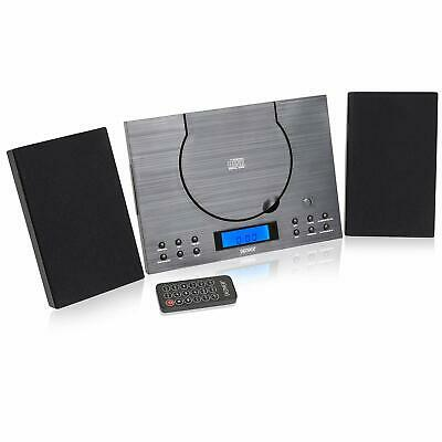CD Player MC-5010 Black Compact Hi-Fi Stereo System Aux-In FM  Wall Mountable