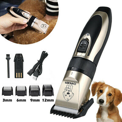 Rechargeable Electric Pet Hair Trimmer Clipper Dog Cat Comb Grooming Clippers AU